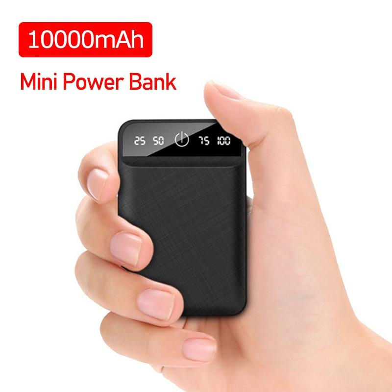 Mini Power Bank Portable 10000mah USB Batteria Charger Powerbank External Battery Pover Bank for Xiaomi2 IPhone8 X|Power Bank| |  - title=