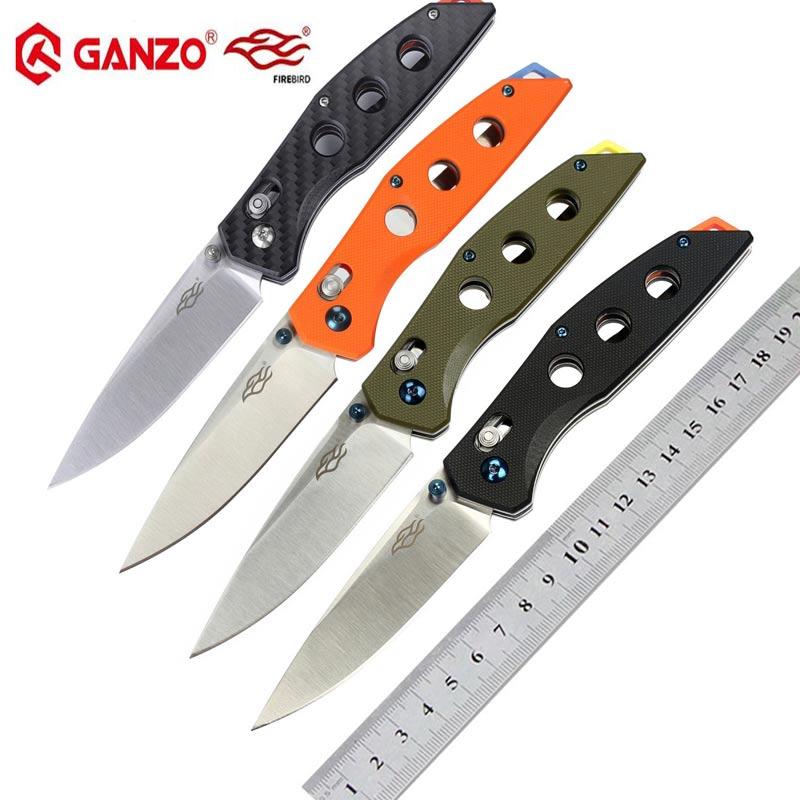 Ganzo Firebird FB7621 440C G10 or Carbon Fiber Handle Folding knife Survival Camping tool Pocket Knife tactical edc outdoor tool