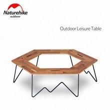Naturehike стол для кемпинга шестигранный разделяемый стол деревянная панель Железный кронштейн простая сборка семейный открытый для пикника путешествия барбекю