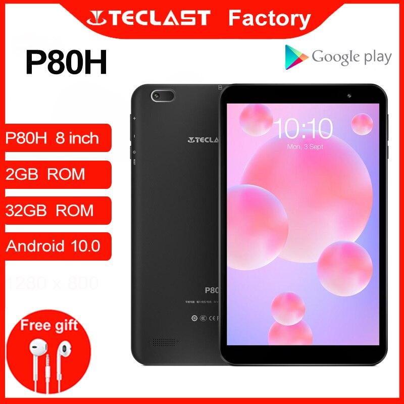 Планшеты PC P80H Android 10,0 планшет четырехъядерный 8 дюймов 1280x800 IPS 2 Гб ОЗУ 32 Гб ПЗУ двойная камера GPS Wifi Bluetooth черный