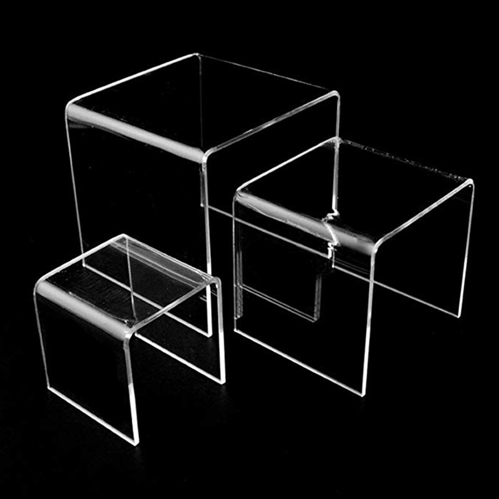 Set Of 6 Party Candy Dessert Cake Stand Clear Acrylic Riser Home Wedding Universal Showcase Table Decoration Jewerly Display