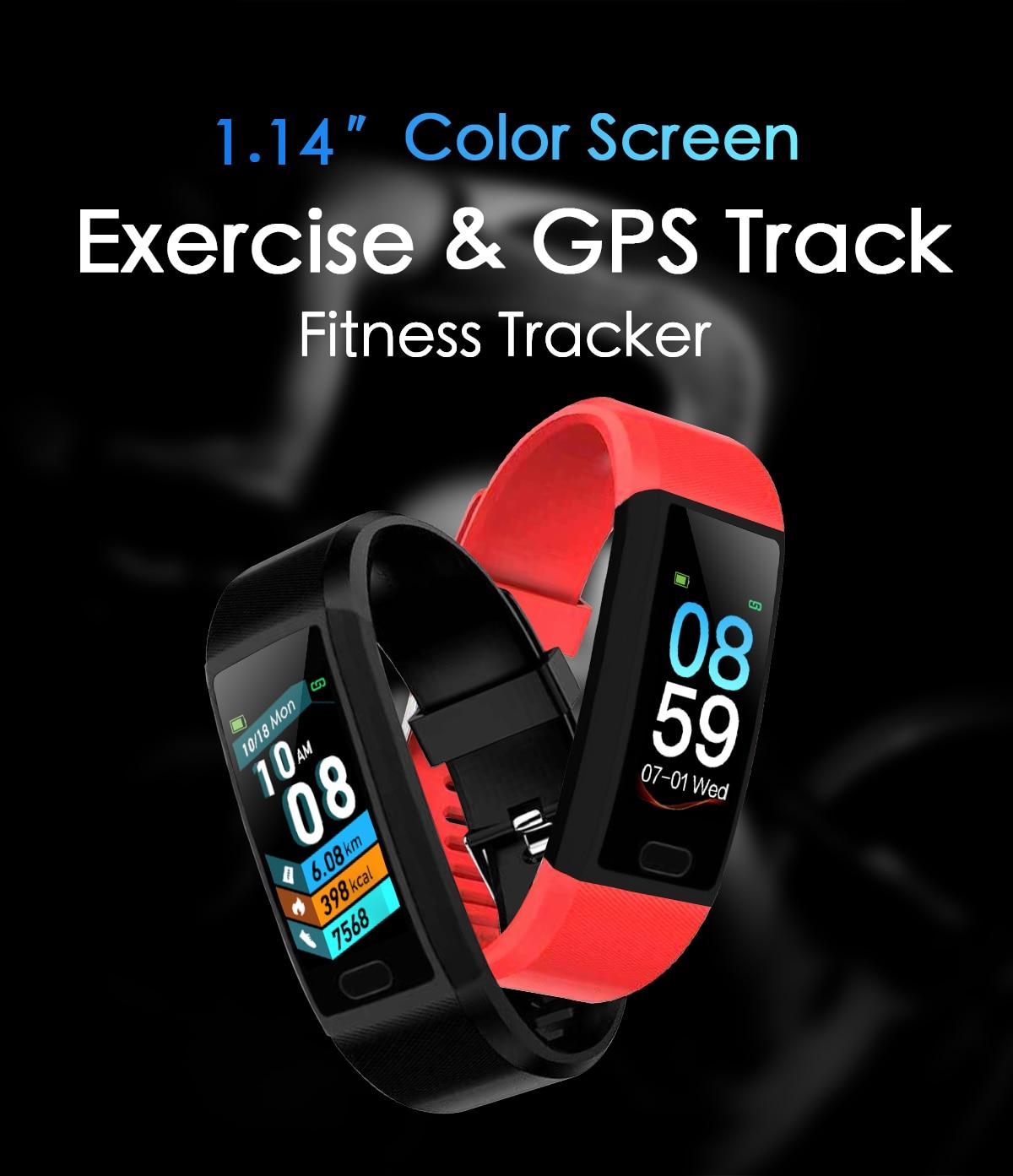 Inteligente Pulseira de Relógio Monitor de Freqüência Cardíaca IP67 Banda Inteligente Pulseira Pulseira De Fitness Rastreador Esporte Relógio Inteligente Relógio Inteligente