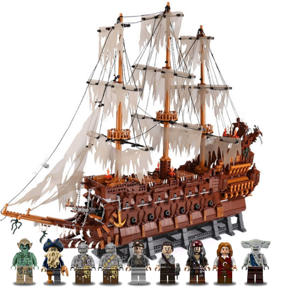 2020 New 3652PCS 16016 The Flying Dutchman Model Building Block Bricks Toys With Lepining City Kids Toys For Children Gift