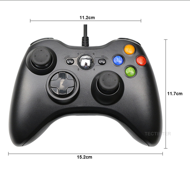 USB Wired Vibration Gamepad Joystick For PC Controller For Windows 7 / 8 / 10 Not for Xbox 360 Joypad with high quality 5