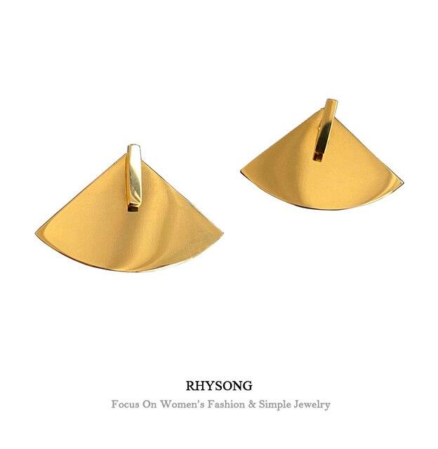 Triangle Stud Earrings 1