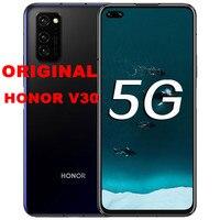 Stock Original Honor V30 HONOR 30 teléfono móvil 5G versión 6,59 pulgadas Kirin 990 5G SOC Octa Core Android 10 NFC Google Play