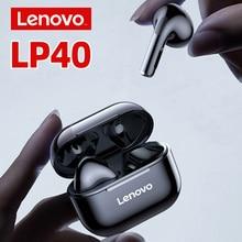 Nieuwe Lenovo LP40 Bluetooth 5.0 Koptelefoon Tws Draadloze Oordopjes IP54 Waterdichte Hifi Draadloze Headsets Met Microfoon Sport Hoofdtelefoon