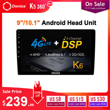 "Ownice K6 8 Core Universel Android Autoradio 2 Din 9 ""10.1"" Auto Lecteur Audio Vidéo GPS DSP Support 4G Carte SIM LTE AHD Caméra(China)"