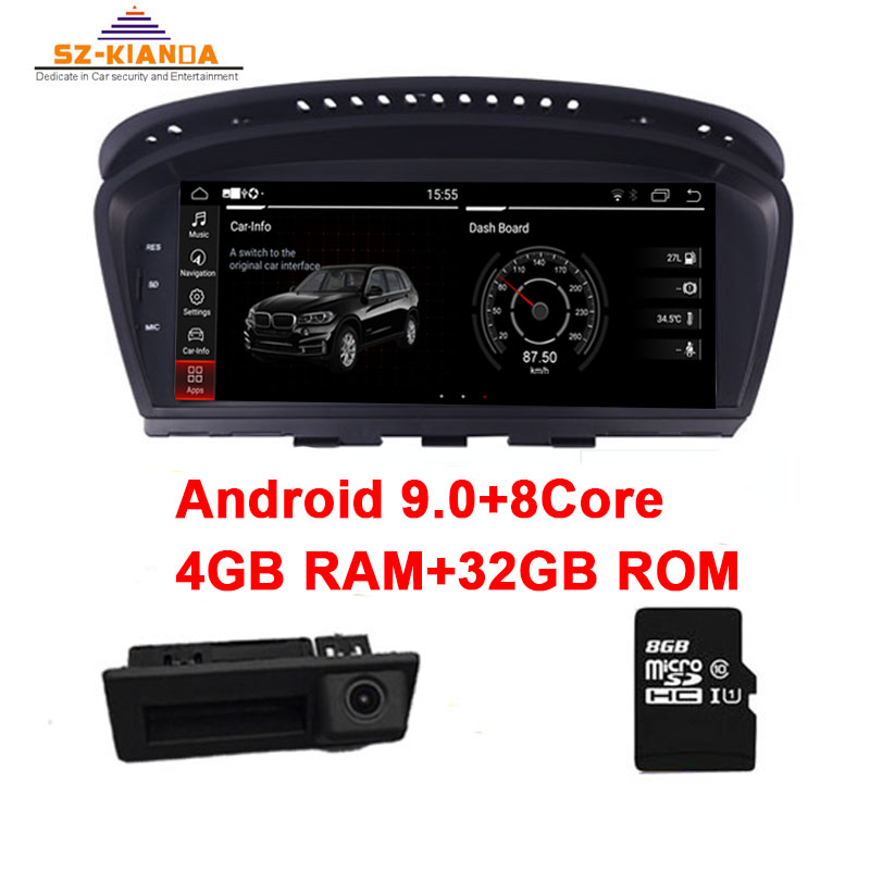 4G Ram+32G Rom Android 9.0 Car multimedia player for <font><b>BMW</b></font> <font><b>5</b></font> <font><b>Series</b></font> <font><b>E60</b></font> E61 E63 E64 E90 E91 E92 CCC CIC Support iDrive Radio GPS image