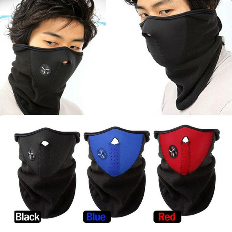 Winter Man Mask Balaclava Cycling Scarf Headband Outdoor Running Neck Warmer Bike Bicycle Riding Face Masks Bandana Men Gift