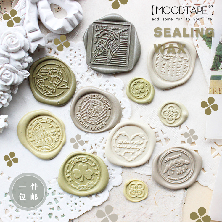 Moodtape Personality Stamp Wood Wax Seal Stamp For DIY Gift / Invitation  Album Decorative Stamp Coffee Heart  Metal Stamp Seal