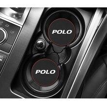 1 pçs suporte de garrafa de copo de água automático almofada antiderrapante para volkswagen vw polo 2009 2011-2020 acessórios do carro