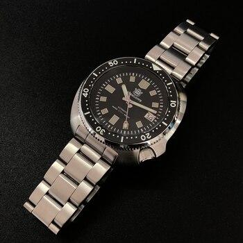 STEELDIVE 200M Dive Watch Automatic Mechanical Men's watch NH35 Japan C3 Super Luminous Diver watch men watches Stainless Steel 1