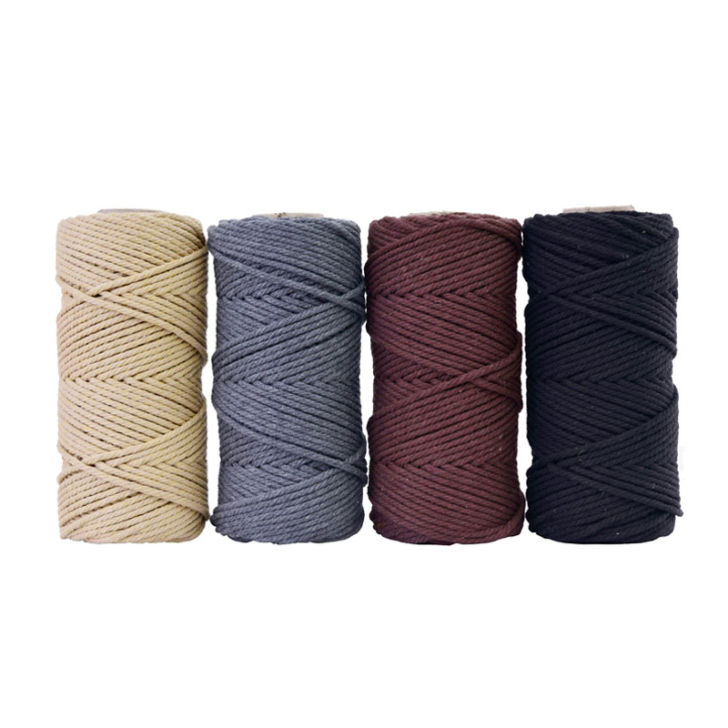 Image 4 - 4mmx110yards 100% Cotton Cord Colorful Rope Beige Twisted Craft Macrame String DIY Wedding Home Textile Decorative supply-in Cords from Home & Garden