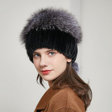 Шапка из меха норки Женская осенне зимняя новая стильная шапка