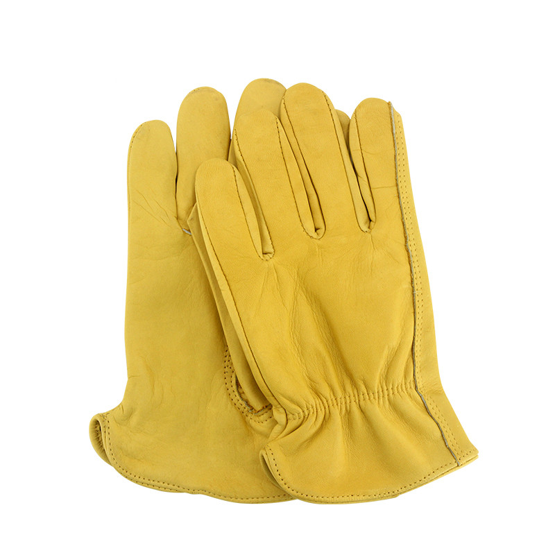 Work Glove Bulk Motorcycle Gardening Construction Labouring Working Glove Cow Leather 5Pairs/lot