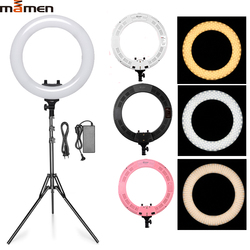 MAMEN 18 inch Selfie Ring LIght LED Dimmable 45CM Photography Lighting For Youyube Live Streaming On Photo Camera With Tripod