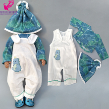 """Doll clothes pants pink unicorn romper clothes for 40cm 43cm reborn baby doll wear sets for 18"""" baby doll accessories toys wear"""