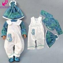 """Ubranka dla lalki spodnie różowe jednorożec romper ubrania dla 40cm 43cm reborn laleczka bobas wear zestawy dla 18 """"laleczka bobas akcesoria zabawki nosić"""