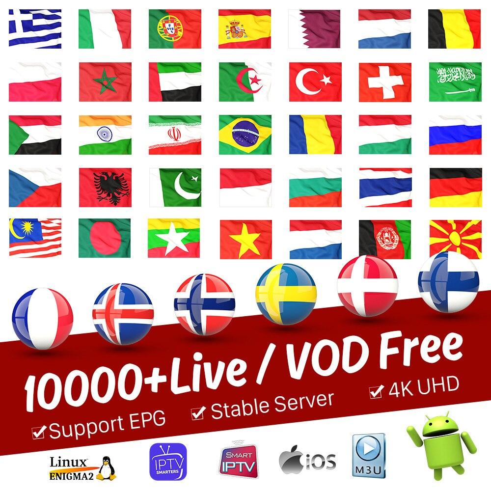 World IPTV M3U France Belgium Spain Portugal Arabic Canada Subscription IPTV Code Smart BOX Smart Tv Sweden Brazil Dutch IP TV