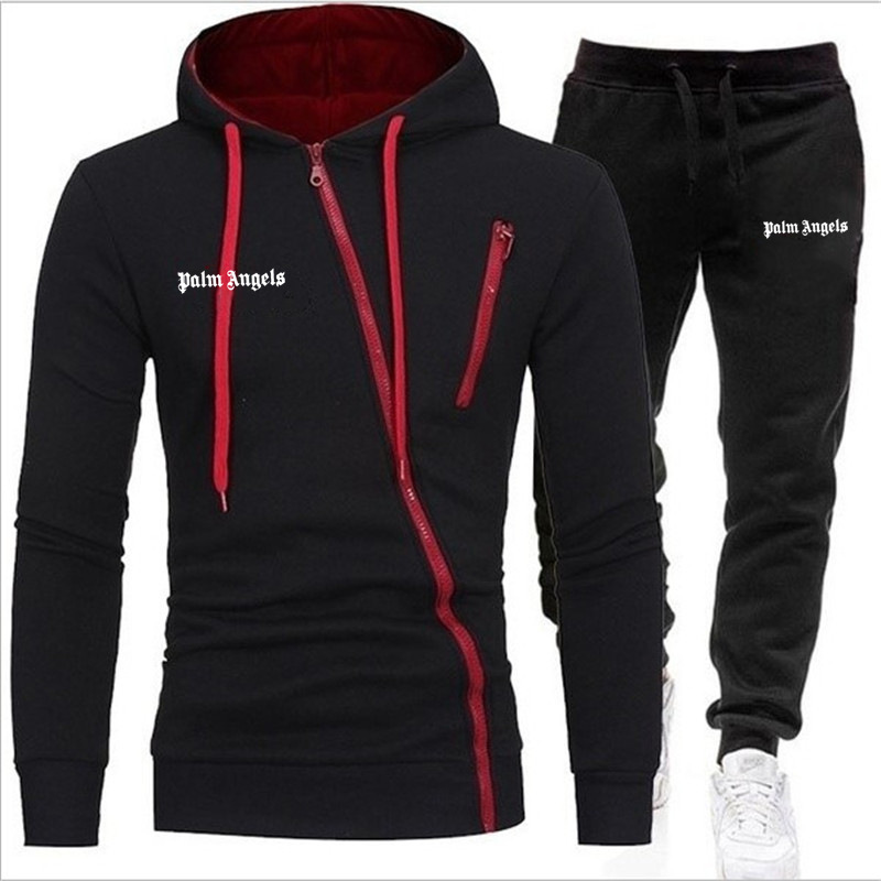 Winter Men Set Casual Warm Thick Hooded Jacket+Pants 2PC Sets Men Hoodies Zipper Tracksuit Male Sports Suit Outwear 2020 NEW