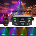 Лазерный светодиодный прожектор WUZSTAR, диско-освещение DMX DJ, голосовой контроллер, музыкальная вечевечерние, эффект освещения для спальни, украшение для дома