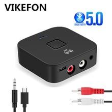 VIKEFON 블루투스 수신기 NFC 블루투스 5.0/4.2 헤드폰 스피커에 대 한 3.5mm AUX/RCA HIFI 자동차 10m 무선 음악 오디오 수신기