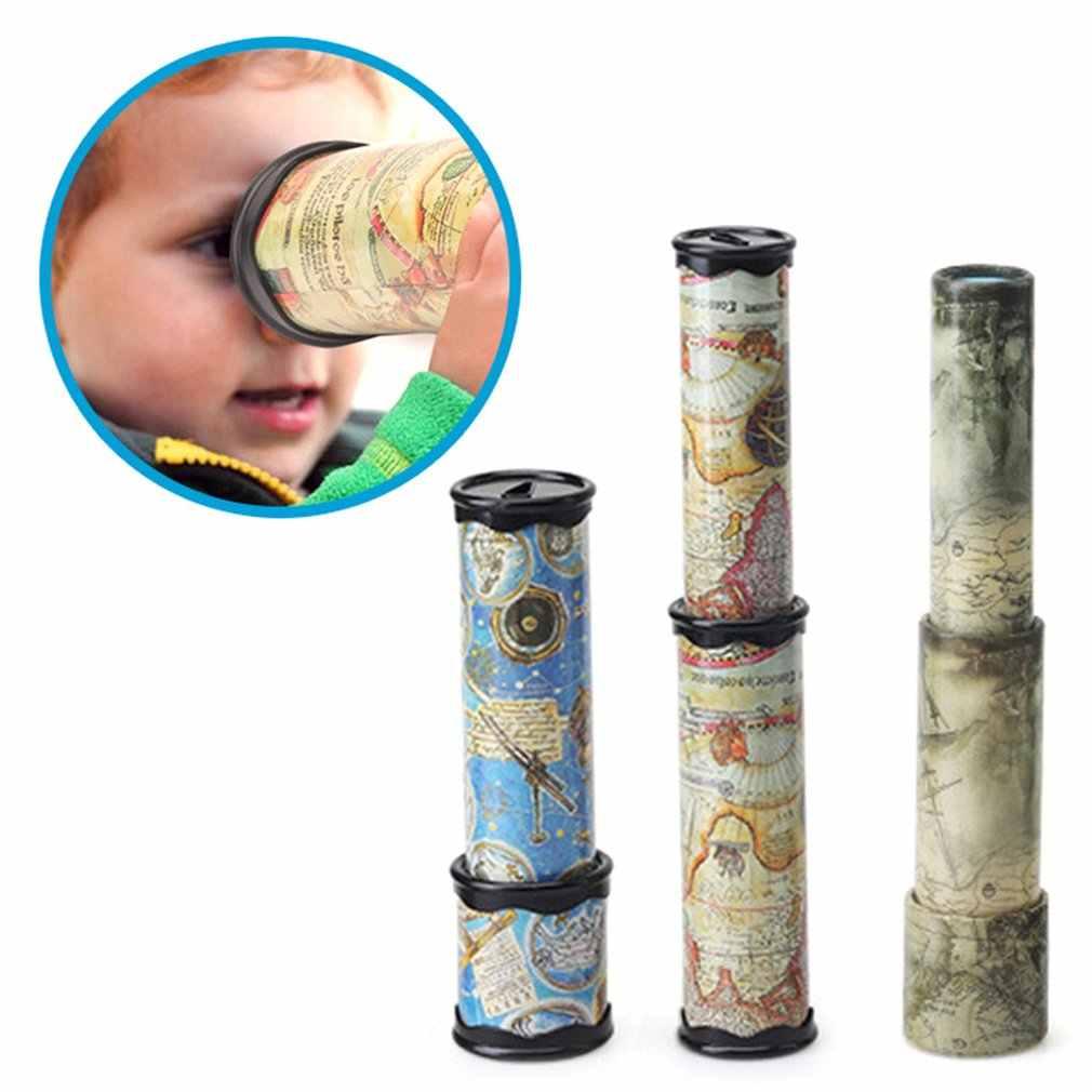 Волшебные пластиковые калейдоскоп, детские развивающие игрушки, необычный Цветной мир, детская игрушка для мальчиков и девочек-цвет выбирается случайным образом