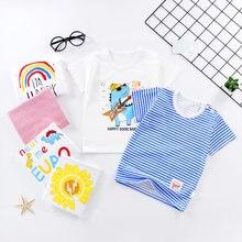 Летняя детская футболка топ для маленьких мальчиков и девочек