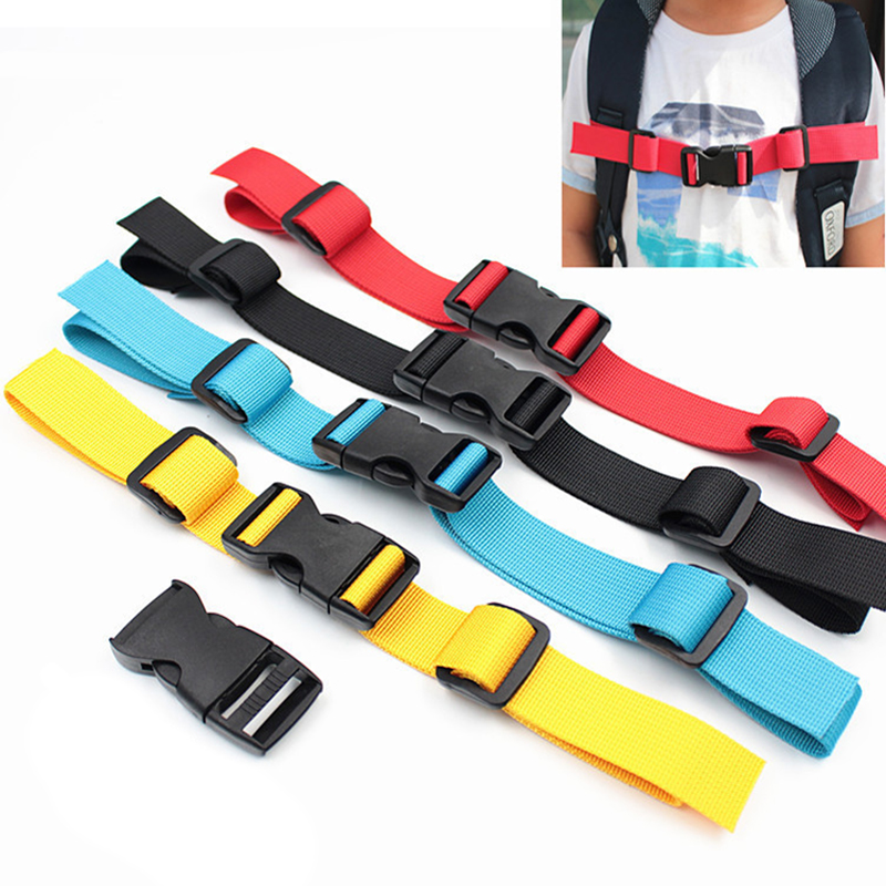 Durable Camping Backpack Chest Harness Strap Adjustable Dual Release Buckle Bag Parts Accessories Nylon Students School Bag Part