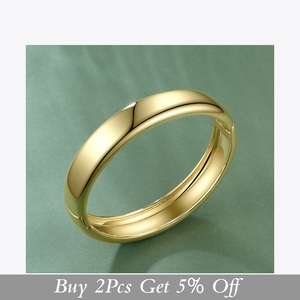 Image 2 - ENFASHION Blank Wide Cuff Bracelets For Women Accessories Gold Color Simple Minimalist Bangles Fashion Jewelry Wholesale B192029