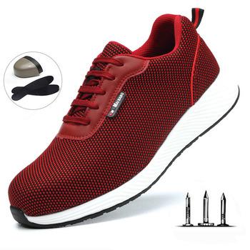 Outdoor T buty przeciwdeszczowe męskie anty-smash i antyprzebiciowe buty robocze bhp lekkie oddychające buty sportowe damskie tanie i dobre opinie EOOPOD sports shoes Bezpłatne elastyczne Formotion Ptpp Spring2019 Pasuje prawda na wymiar weź swój normalny rozmiar