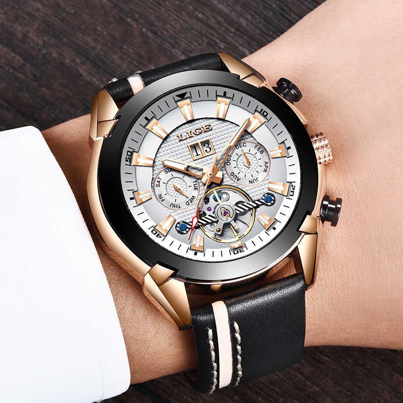 Nieuwe Luik Mode Horloge Mannen Top Brand Luxe Automatische Mechanische Horloge Casual Sport Waterdicht Mannen Horloges + Box Relogio Masculino