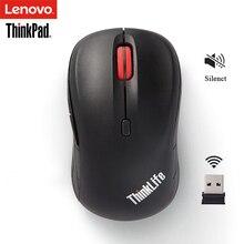 Беспроводная Бесшумная мышь Lenovo ThinkPad WLM200 для ноутбука, ПК, офиса, дома, универсальная мышь ThinkLife