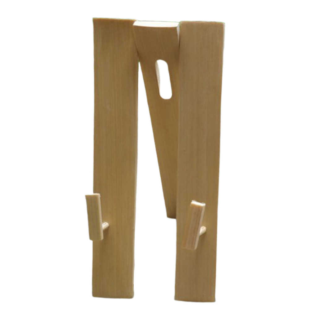 Supports d'affichage pour éventail à main | Socle de support de ventilateur pliant chinois en bambou réglable
