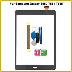 Nowy t550 ekran dotykowy do Samsung Galaxy Tab A 9.7 SM T550 SM T551 T551 T555 digitizer panel dotykowy czujnik przedni szklany ekran w Ekrany LCD i panele do tabletów od Komputer i biuro na