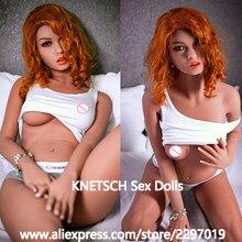 KNETSCH – poupée sexuelle en Silicone pour homme, avec seins réalistes, de qualité supérieure, Anus, vagin et Oral, Sexy, 158cm