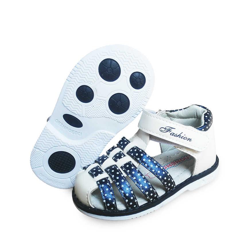 חדש 1 זוג ילדי ילדה עור נעליים אורתופדיות, ילדי אופנה סנדלי, חדש עיצוב נעליים