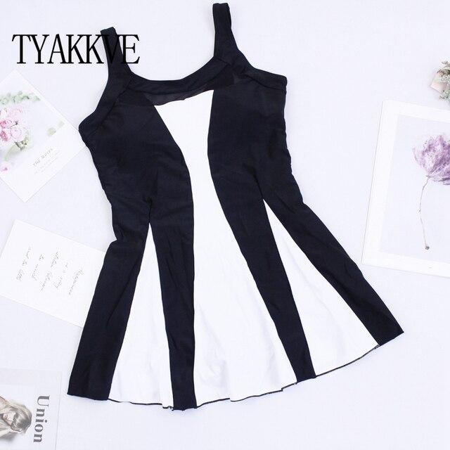 Tankini Swimsuit Women Swim Skirt Plus Size One Piece Print Swimwear 2019 Tankini Femme Vintage Large Size Swim Mesh Beach wear 2