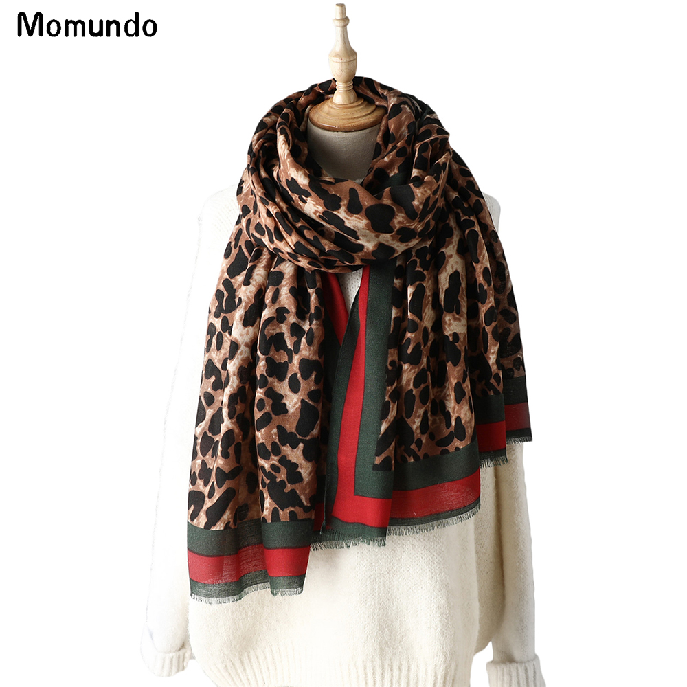 Fashion New Leopard Grain Women Shawl Winter Soft Cotton And Linen Long Spring Travel Lady Scarf Hot Sale Pashmina