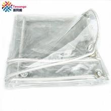 Tewango 99% прозрачный открытый мягкий ПВХ дождевик водонепроницаемый брезент теплица пленка сверхмощный дождь брезент 0,3 мм толщина