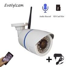 Hd 2mp 1080p câmera ip sem fio de áudio wi fi com fio 720p cctv câmera de vigilância segurança bala visão noturna ir câmera à prova dwaterproof água