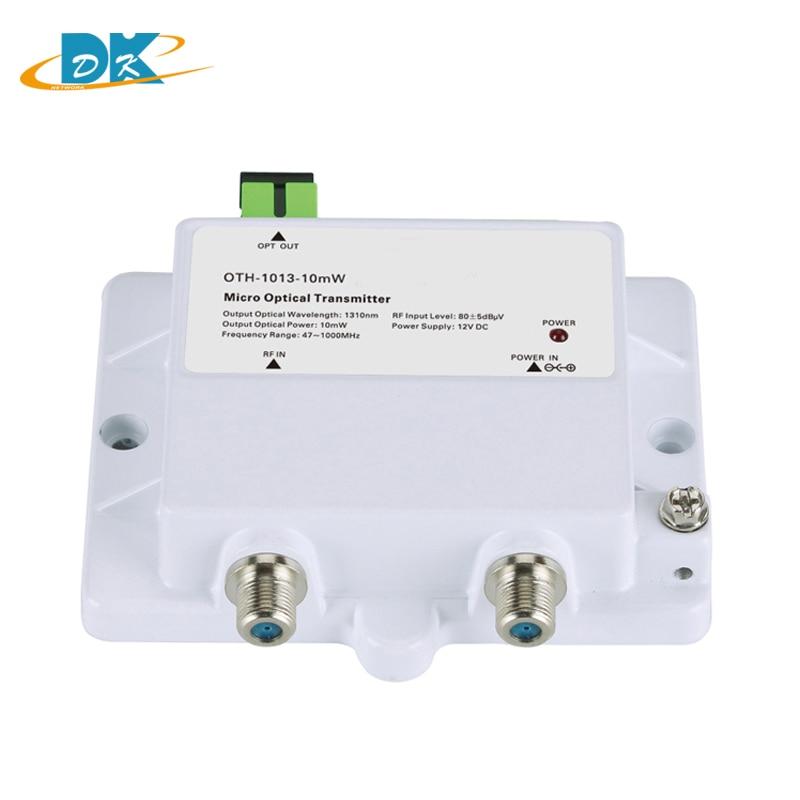 DK-1013-10mW Micro Optical Transmitter FTTH 12V CATV Mini Micro Transmitter 47-1000MHZ 1310nm 1550nm Optical Fiber With SC/APC