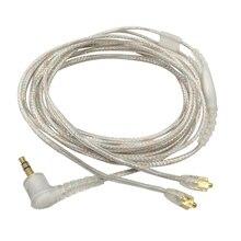 Nuovo cavo per microfono per Shure SE215 SE315 SE846 auricolare MMCX SE535 sostituisci aggiornamento cavo placcato argento per iPhone Android