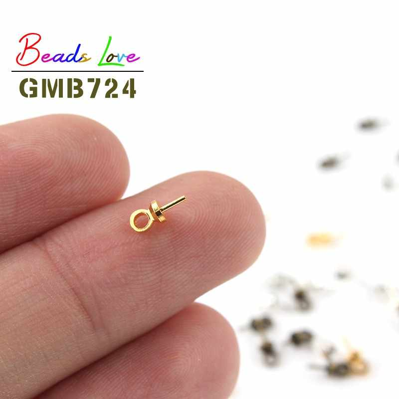 100pcs 6*3mm Gold Silver Eye PIN BAIL Pearl Charm Connector BAIL สำหรับจี้อุปกรณ์เครื่องประดับ DIY ผลการค้นหาทำอุปกรณ์เสริม