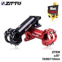 ZTTO 70 90 110mm 35도 고강도 경량 31.8mm 광택 XC AM MTB 산악 자전거 광택 자전거 부품
