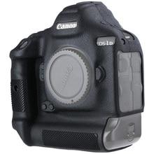 สำหรับ Canon 1DX ซิลิโคนกล้องป้องกันสำหรับ Canon 1DX 1DX2 1DXII สูงเกรด Litchi Texture Non ลื่นฝาครอบกล้อง