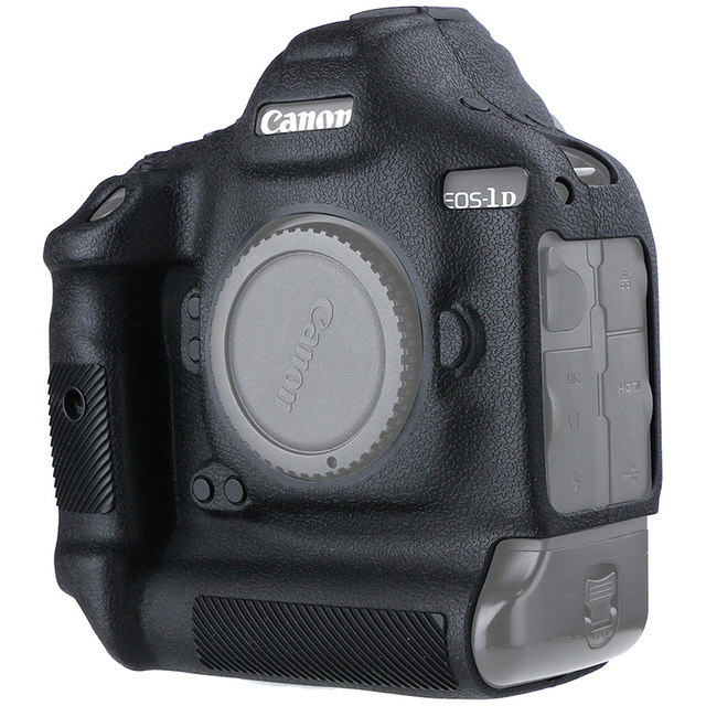 Cover for Canon 1DX Silicone Camera Protective Case for Canon 1DX 1DX2 1DXII High Grade Litchi Texture Non slip Camera Cover