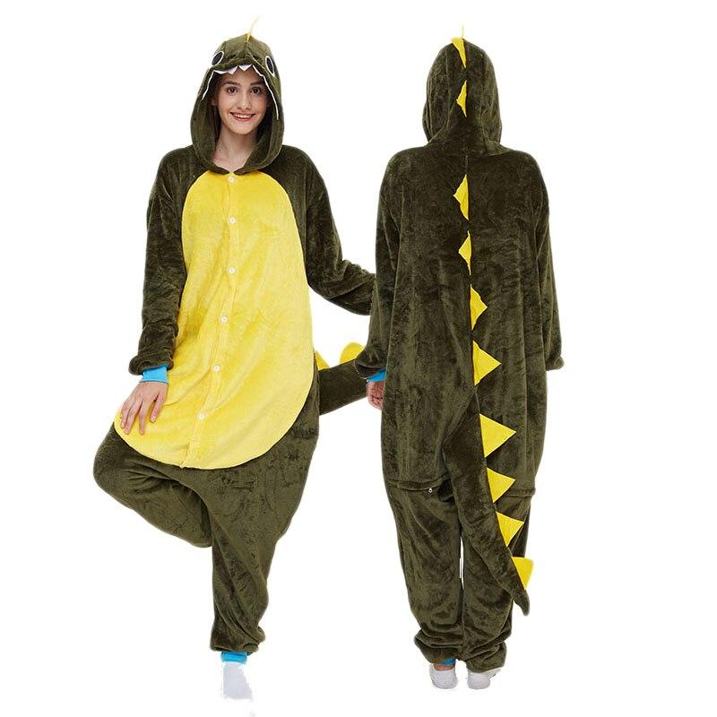 Green Dragon Kigurumis Women Pajama Onesie Animal Onepiece Men Adult Carnival Funny Sleepwear Cosplay Homewear Costume Apparel