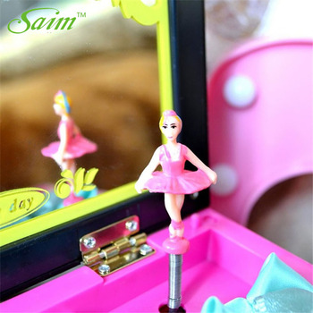 Saim Lovery Ballerina Music Boxes Hand Crank Jewelry Box Plastic Music Box Music Box DIY